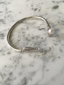 Pearl And Sterling Silver Polo Mallet Bracelet