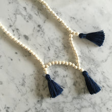 Load image into Gallery viewer, Wood + Tassel Necklace