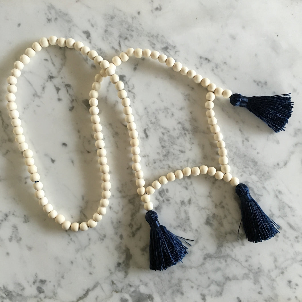 Wood + Tassel Necklace