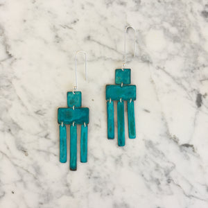 Oxidized Wind Chime Earrings