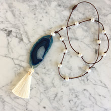 Load image into Gallery viewer, Sea + Storm Necklace (one of a kind)