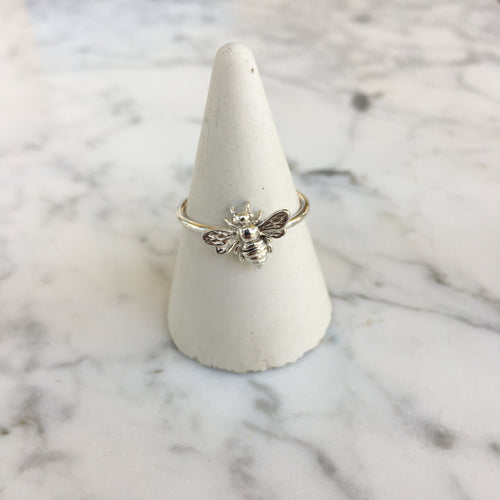 handmade bee ring