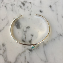 Load image into Gallery viewer, Single Stone Sterling Silver Cuff - Amazonite