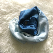 Load image into Gallery viewer, Silk Indigo Ombra Scarf