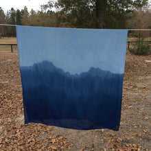 Load image into Gallery viewer, Hand Dyed Indigo Scarf