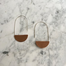 Load image into Gallery viewer, Copper Luna Earrings
