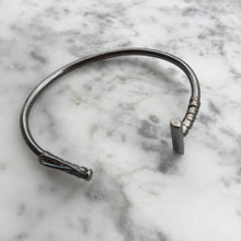 Load image into Gallery viewer, Oxidized Sterling Silver Polo Mallet Bracelet