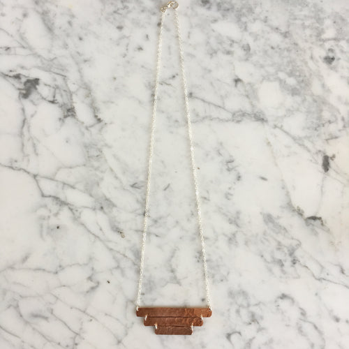 Copper Three Bar Necklace
