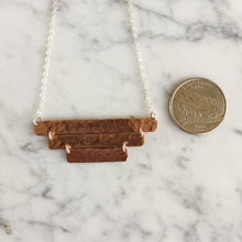 Load image into Gallery viewer, Copper Three Bar Necklace