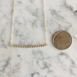 Sterling Silver Bead Bar Necklace