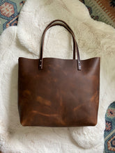 Load image into Gallery viewer, Saddle Brown - Large Barn Tote