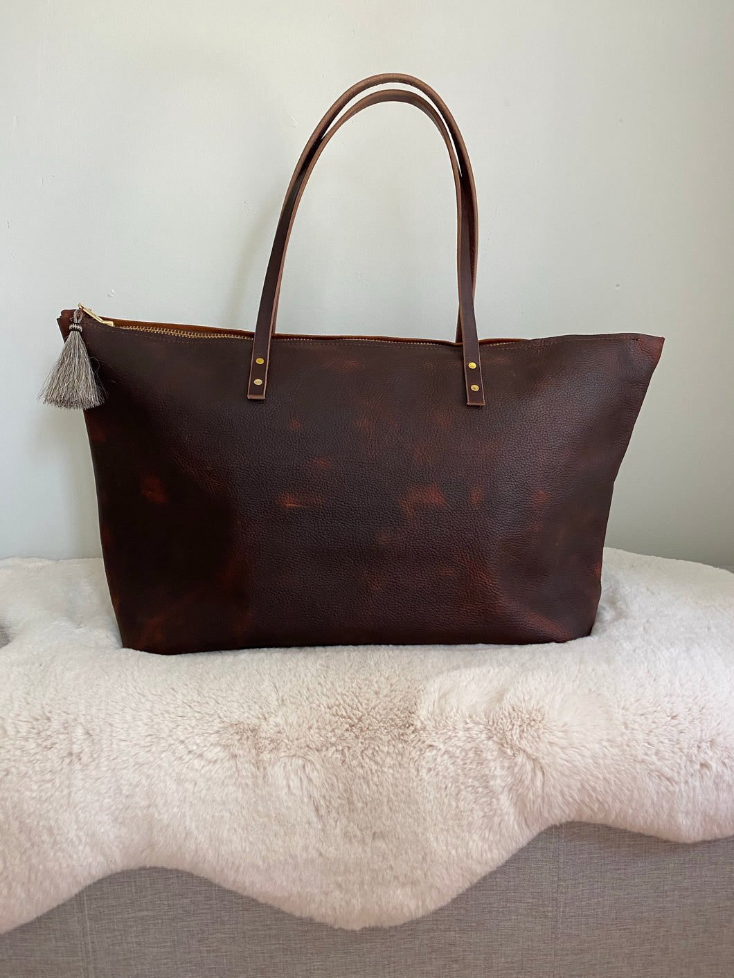 Cowboy Brown - Small Leather Weekender