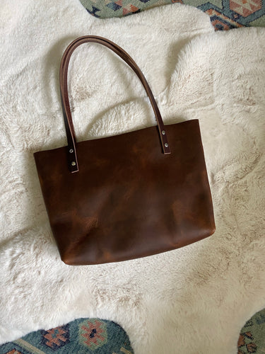 Saddle Brown - Small Barn Tote