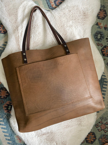 Sage Brown - Large Barn Tote