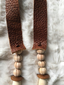 Horsehair Tassel + Wooden Bead Necklace