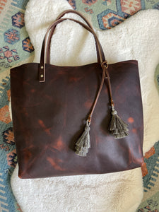 Cowboy Brown - Large Barn Tote