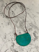 Load image into Gallery viewer, Oxidized Shield Necklace