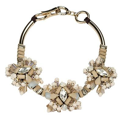Multi-tone Bronze Crystal Choker Necklace