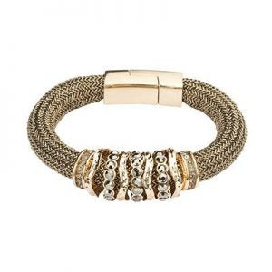 Tubular Knitted Bronze Bracelet