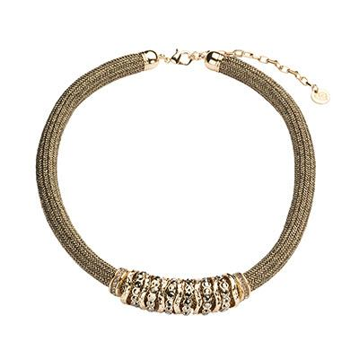 Bronze Knitted Charm Collar