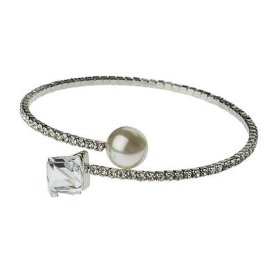 Pearl and Crystal Elegance Cuff