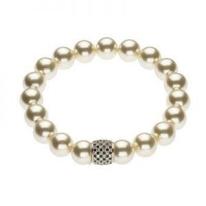 Pearl and Silver Link Bracelet