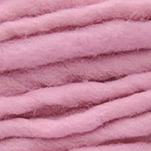 Close up of Brown Sheep Burly Spun in pink.