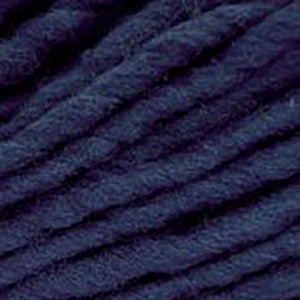 Close up of Brown Sheep Burly Spun in dark blue.
