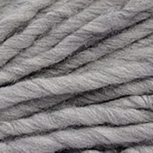 Close up of Brown Sheep Burly Spun in light heathered grey.