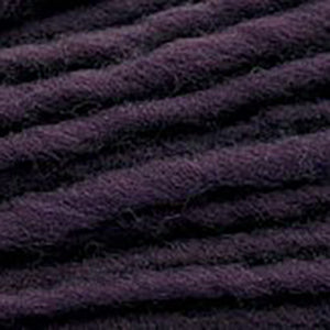 Close up of Brown Sheep Burly Spun in dark plum.