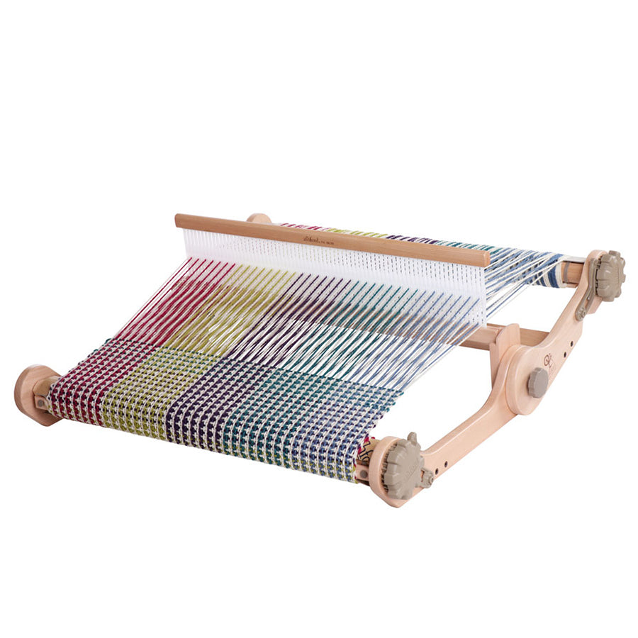 Angled front view of the Ashford Knitters Loom in 20-inch width.