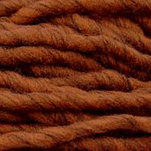 Close up of Brown Sheep Burly Spun in heathered burnt orange..