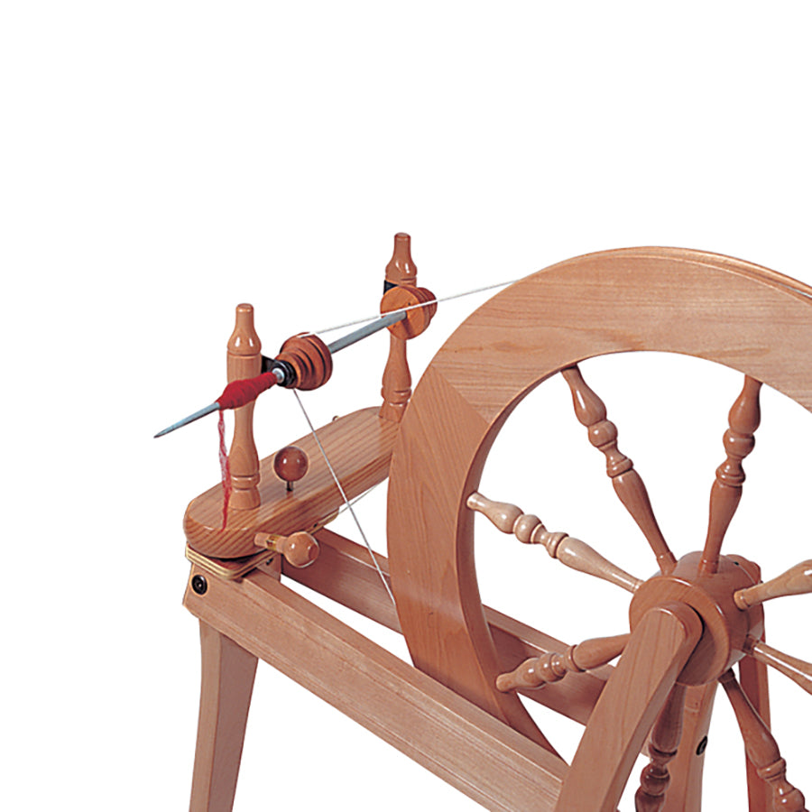Picture of the quill spindle on the Ashford Elizabeth spinning wheel.
