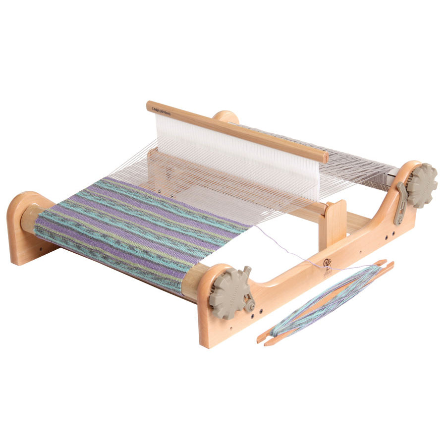 Angled front view of the 16-inch Ashford Rigid Heddle Loom