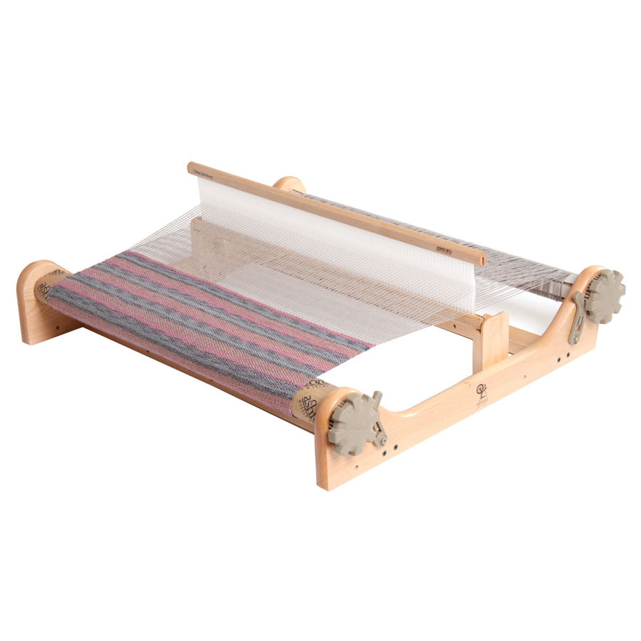 Angled front view of the 20-inch Ashford Rigid Heddle Loom.