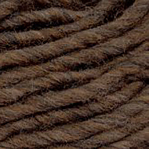 Close up of Brown Sheep Burly Spun in heathered brown.