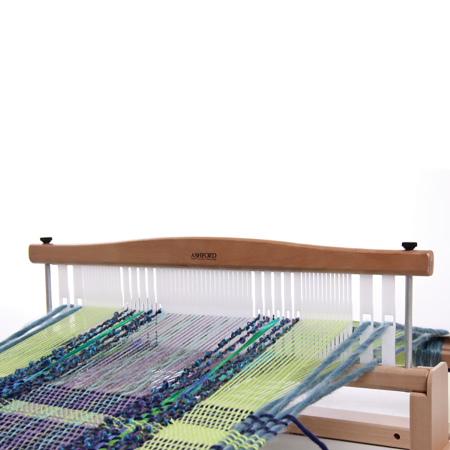 Image of the Ashford Rigid Heddle variable dent heddle in use.