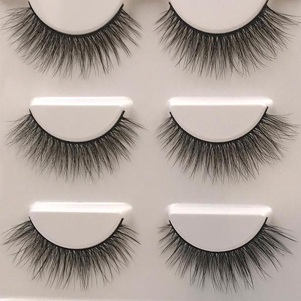 3pc Natural False Eyelashes Cadeau Damour Hub