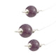 Amethyst Round Reiki Chakra Ball Pendulum (Set of 3)
