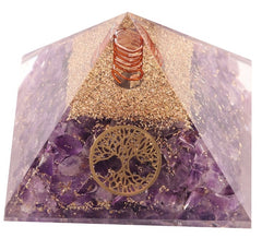 Amethyst With Life of Tree Orgone Pyramid