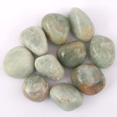Green Aventurine Tumble Stone (25-30mm); (Set of 2)