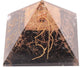 Black Tourmaline With Reiki Symbols Orgone Pyramid