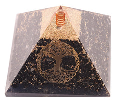 Black Tourmaline With Life of Tree Orgone Pyramid