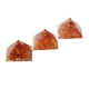 Carnelian Orgone Pyramid Set of 3