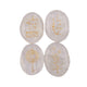 Crystal Cabochon With Reiki Symbols Pebble (Set of Four)