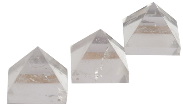 Crystal Gemstone Pyramid For EMF Protection Set of 3