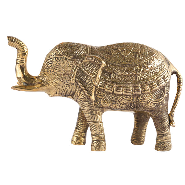 Brass Elephant Statue (6 and 2 Inches)