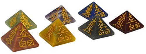 Reiki Symbol 1 Inch Stone Pyramid (Set of 7)
