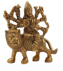 Brass Durga Maa Statue (Height 3 Inches)