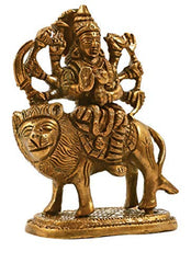 Brass Durga Maa Statue (Height 4 Inches)